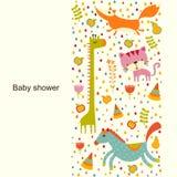 Carte de vecteur de fête de naissance Image stock