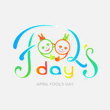 Carte de vecteur de jour du ` s d'April Fool Images libres de droits