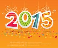 Carte 2015 de vecteur de nouvelle année Photo stock
