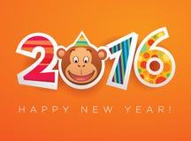 Carte 2016 de vecteur de nouvelle année illustration libre de droits