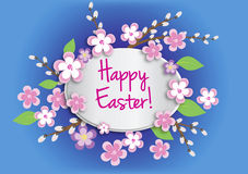 Carte de vecteur de Pâques Images stock
