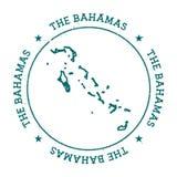 Carte de vecteur des Bahamas illustration stock