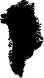 Carte de vecteur du Groenland Photographie stock