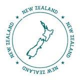 Carte de vecteur du Nouvelle-Zélande illustration libre de droits