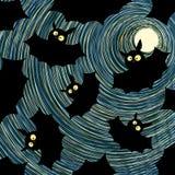 Carte de veille de la toussaint de type de dessin animé Images stock