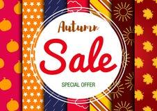 Carte de vente d'automne Photographie stock libre de droits