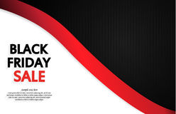 Carte de vente de Black Friday Photo stock