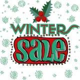 Carte de vente et de remise, bannière, insecte Titre de vente d'hiver Photographie stock libre de droits