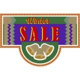 Carte de vente et de remise, bannière, insecte Titre de vente d'hiver Photos libres de droits