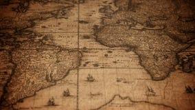 Carte de Vieux Monde âgée banque de vidéos