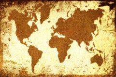 Carte de Vieux Monde Photos libres de droits