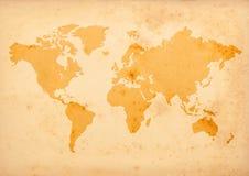 Carte de Vieux Monde Images libres de droits