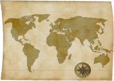 Carte de Vieux Monde Photographie stock libre de droits