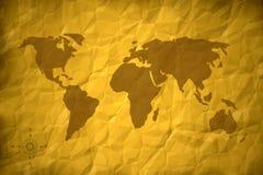Carte de Vieux Monde Photo libre de droits