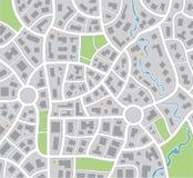 Carte de ville illustration de vecteur
