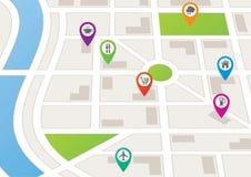 Carte de ville illustration libre de droits