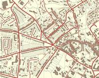 Carte de ville Photographie stock
