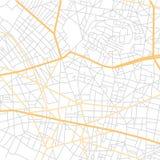 Carte de ville d'abrégé sur vecteur avec de petits indicateurs illustration libre de droits
