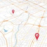 Carte de ville d'abr?g? sur vecteur dans la vue de perspective illustration libre de droits