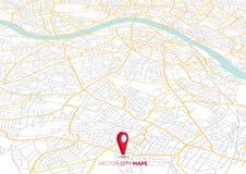 Carte de ville d'abr?g? sur vecteur dans la vue de perspective illustration de vecteur