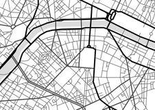 Carte de ville d'abrégé sur vecteur en noir et blanc illustration libre de droits