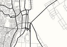 Carte de ville d'abr?g? sur vecteur en noir et blanc illustration de vecteur