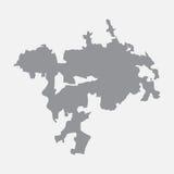 Carte de ville d'Ankara dans le gris sur un fond blanc Photographie stock