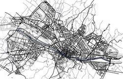 Carte de ville de Florence, Italie illustration libre de droits
