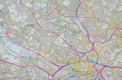 Carte de ville de Leeds Photographie stock
