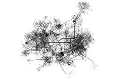 carte de ville de modèle illustration stock