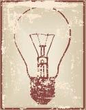 Carte de vintage avec l'ampoule illustration stock