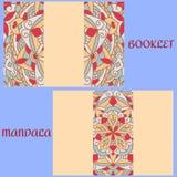 Carte de vintage avec le modèle et l'ornement de mandala booklet illustration libre de droits