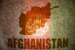 Carte de vintage de l'Afghanistan photo stock