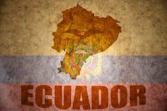 Carte de vintage de l'Equateur Image libre de droits