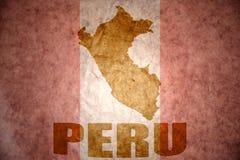 Carte de vintage du Pérou Photos libres de droits