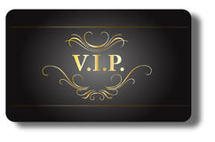 Carte de VIP Photographie stock