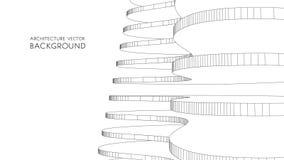 Carte de visite professionnelle de visite élégante pour un architecte illustration abstraite de vecteur Photo stock