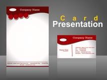 CARTE DE VISITE PROFESSIONNELLE DE VISITE Photographie stock libre de droits
