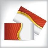 Carte de visite professionnelle de visite avec le modèle orange d'hexagone Photo libre de droits