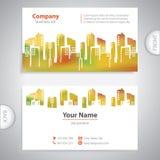 Carte de visite professionnelle de visite - bâtiment architectural abstrait Image libre de droits