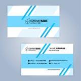 Carte de visite professionnelle de visite Bleu et blanc Photographie stock
