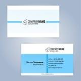 Carte de visite professionnelle de visite Bleu et blanc Photos libres de droits