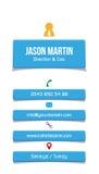 Carte de visite professionnelle de visite bleue d'entreprise Photos libres de droits