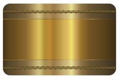 Carte de visite professionnelle de visite Carte d'or illustration stock