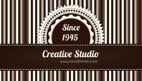 Carte de visite professionnelle de visite décorative de Brown Photo stock