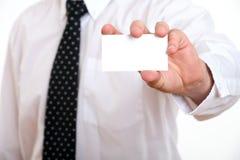 Carte de visite professionnelle de visite de fixation d'homme d'affaires image stock
