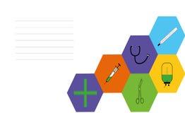 Carte de visite professionnelle de visite médicale Images stock