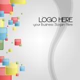 Carte de visite professionnelle de visite ou fond de logo pour stationnaire Photo libre de droits