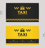 Carte de visite professionnelle de visite pour la société de taxi Photos stock