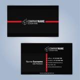 Carte de visite professionnelle de visite Rouge et noir Image stock